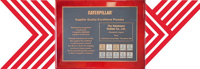 Yokohama Tire Receives Platinum Supplier Award from Caterpillar for 7th Straight Year