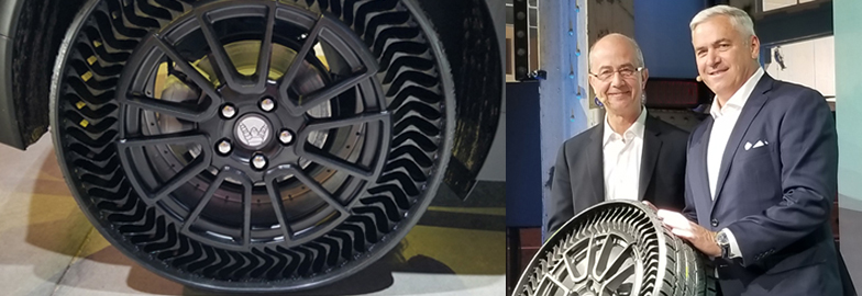 Michelin, GM Show Off Uptis – an Airless Tire Prototype – at Movin'On Summit