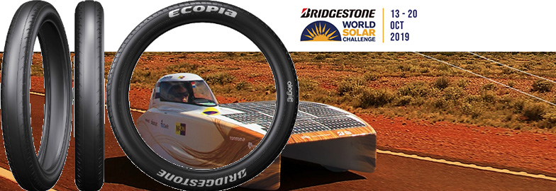 Bridgestone to supply solar car tires using fuel-efficient tyre technology to 32 teams competing in the 2019 Bridgestone World Solar Challenge