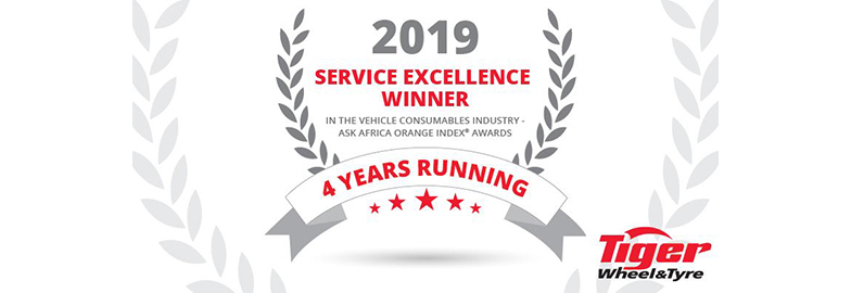 Tiger Wheel & Tyre ranked Number One in Service Excellence